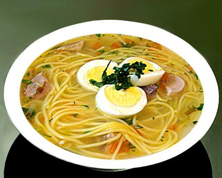 куриный суп с яйцом и лапшой рецепт с фото