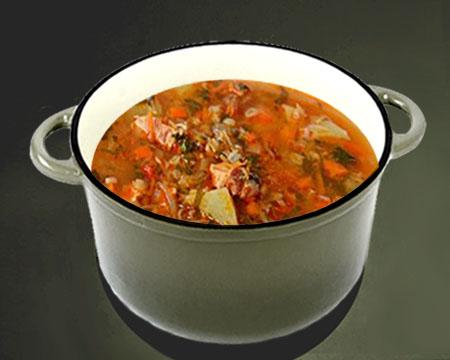 Овощной суп на курином бульоне с пекинской капустой - рецепт пошаговый с фото