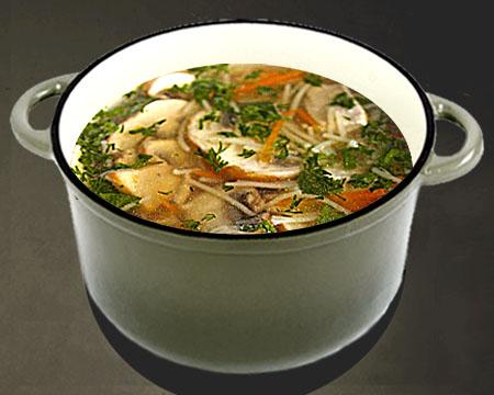 грибной суп из шампиньонов без зажарки рецепт