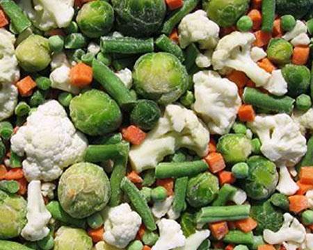 смесь замороженных овощей
