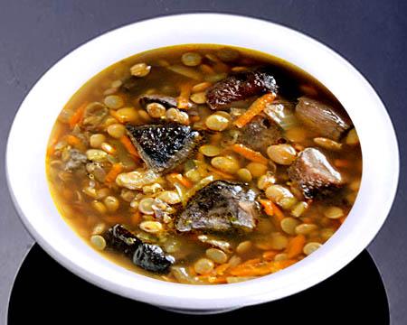суп с чечевицей с грибами рецепт с фото