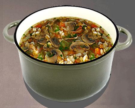 суп с грибами и рисом рецепт с фото