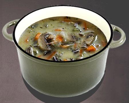 рецепт супа из грибов замороженных
