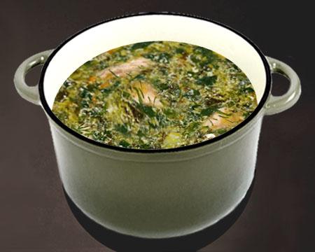 Как варить зеленые щи из щавеля на мясном бульоне