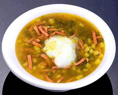 Суп с сосисками рецепт пошагово с и зеленым